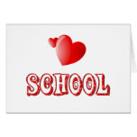 Love for School Greeting Cards