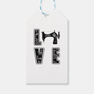 love for sewing gift tags