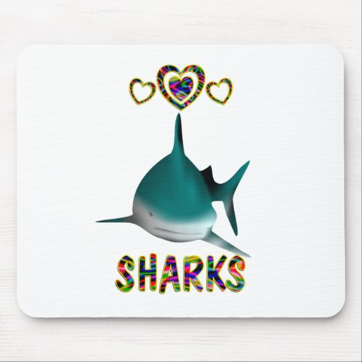 Love for Sharks Mouse Pad