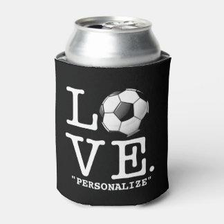 Love For Soccer Glossy Soccer Ball Can Cooler
