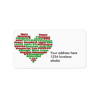 Love for the Holidays Label