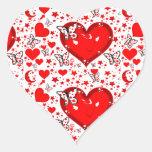 Love,Forever & Always_ Heart Sticker