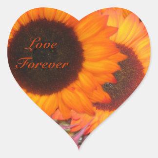 Love Forever Autumn Heart Sticker