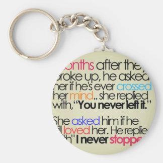 love forever basic round button keychain