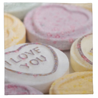 Love Forever Candy Hearts Cloth Napkins