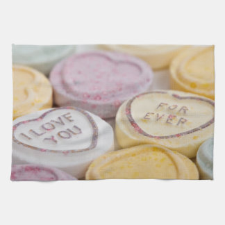 Love Forever Candy Hearts Kitchen Towel