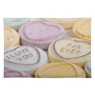 Love Forever Candy Hearts Placemat