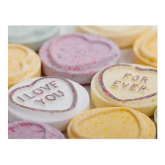 Love Forever Candy Hearts Postcard