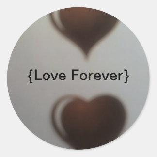 Love Forever  Classic Round Sticker