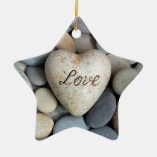 Love forever Double-Sided star ceramic christmas ornament