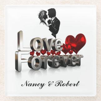 LOVE FOREVER GLASS COASTER