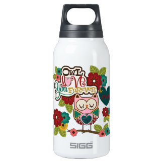 love forever owl insulated water bottle