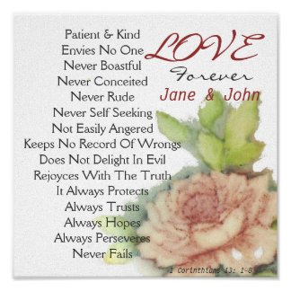 Love Forever Personalized Poster-Customize