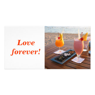 Love forever photo card