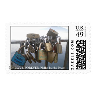 LOVE FOREVER. POSTAGE STAMPS