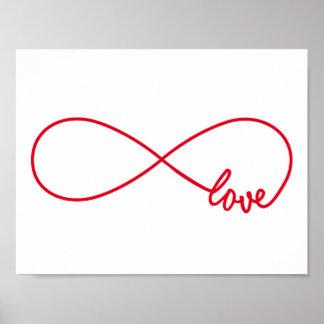 Love forever, red infinity sign, never ending love poster