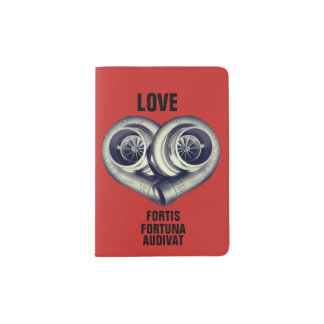 LOVE: FORTIS FORTUNA AUDIVAT PASSPORT HOLDER