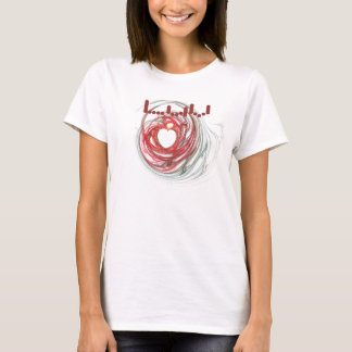 Love Fractal Heart Design T-Shirt