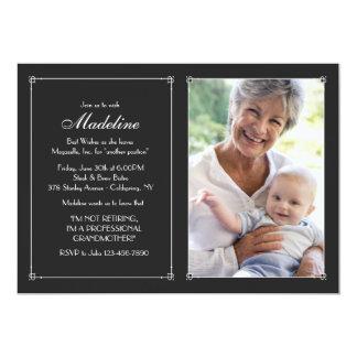 Love Frame Photo Retirement Invitation