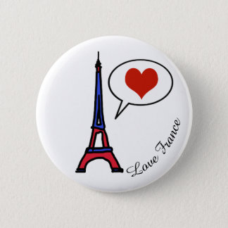 love France Pinback Button