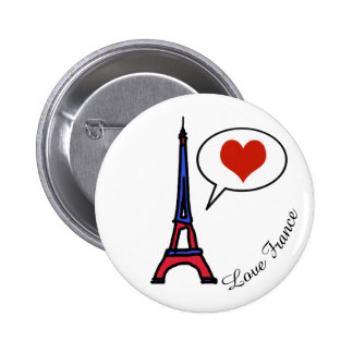 love France Pinback Button