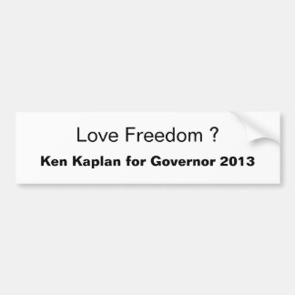 Love Freedom ? Bumper Sticker