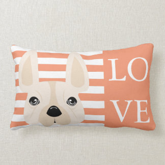 LOVE French Bulldog Pillow