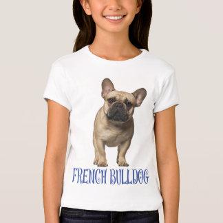 Love French Bulldog Puppy Dog Blue Girls T-Shirt