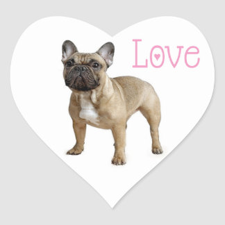 Love French Bulldog Puppy Dog Sticker / Seal