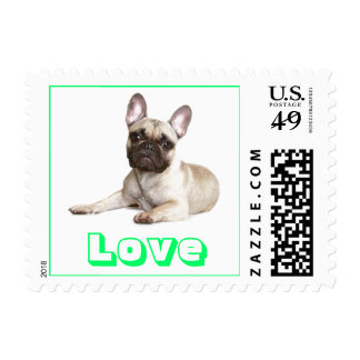 Love French Bulldog US Postage Stamps