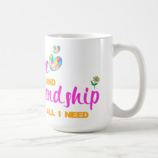 Love & Friendship Classic White Mug