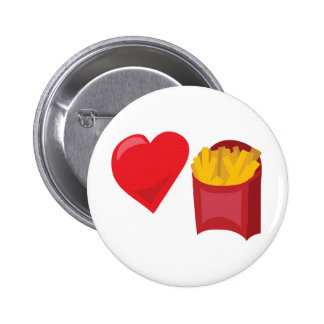 Love Fries!  Customizable: Pinback Button