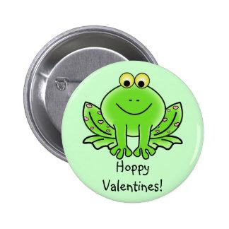 Love Frog Funny Greeting: Hoppy Valentine's Day Pin