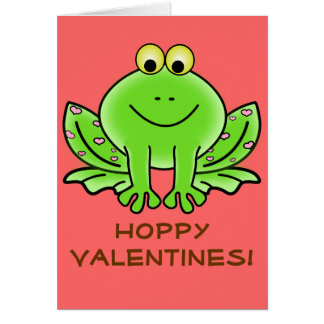 Love Frog Funny Greeting: Hoppy Valentine's Day Card
