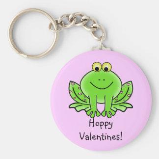 Love Frog Funny Greeting: Hoppy Valentine's Day Keychain