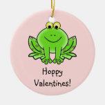 Love Frog Funny Greeting: Hoppy Valentine's Day Christmas Ornaments