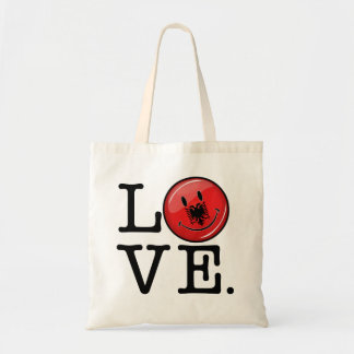 Love From Albania Smiling Flag Tote Bag