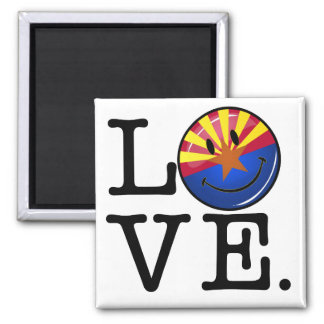 Love From Arizona Smiling Flag Magnet