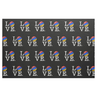 Love From Armenia Smiling Flag Fabric