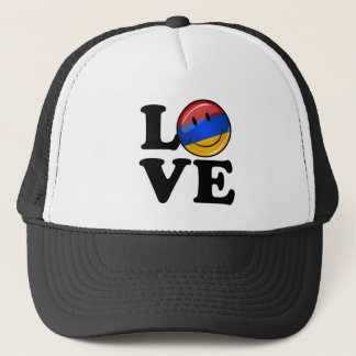 Love From Armenia Smiling Flag Trucker Hat