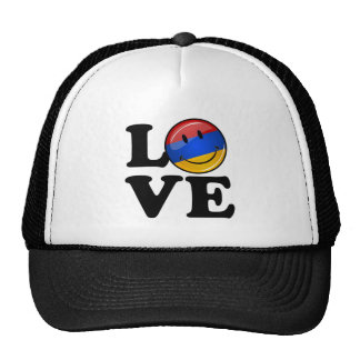 Love From Armenia Smiling Flag Trucker Hat