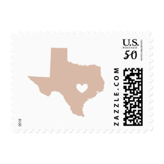 Love from Austin, Tx in Blush Postage