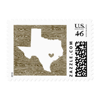 Love from Austin TX in Faux Bois Postage