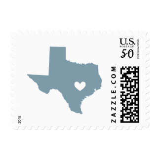 Love from Austin, TX in Gray Blue Postage