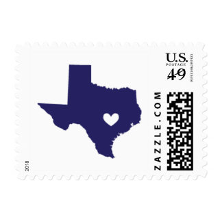 Love from Austin, TX in Navy Postage