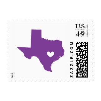 Love from Austin, TX in Purple Postage