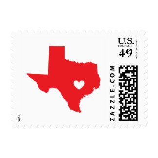 Love from Austin, TX in Red Postage