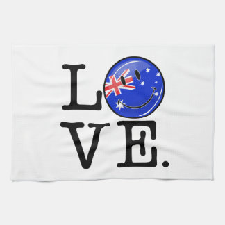 Love from Australia Smiling Flag Kitchen Towel