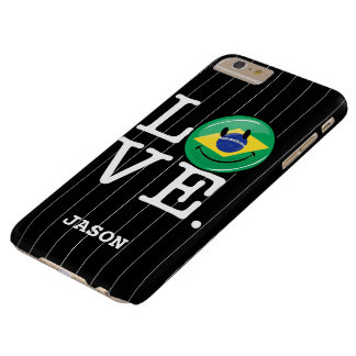 Love from Brazil Smiling Face Barely There iPhone 6 Plus Case