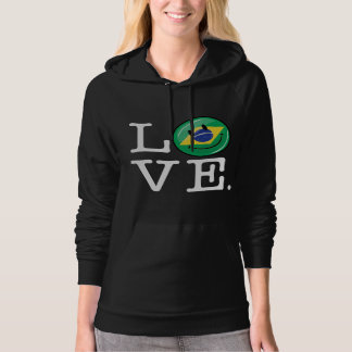 Love from Brazil Smiling Face Hoody
